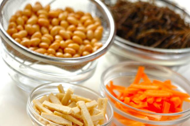 刻み昆布と大豆の煮物の作り方の手順1