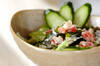 生ベーコンのサラダの作り方の手順