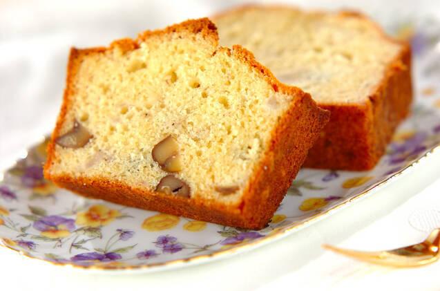 バナナと甘栗のパウンドケーキ