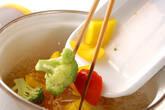 彩りゆで野菜サラダの作り方2