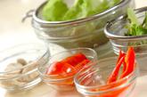 野菜サラダの下準備1