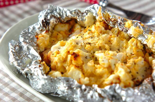 タルタル&チーズ「鮭のホイル焼き」