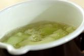 薄切りウリの葛汁の作り方1