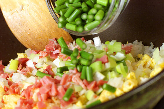 レタス包み炒飯の作り方の手順9