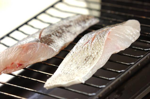 スズキのシンプル塩焼きの作り方の手順4