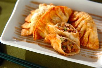 オクラ納豆揚げ餃子