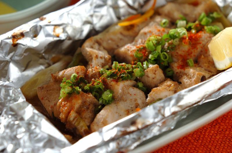 鶏むね肉と野菜のホイル焼き