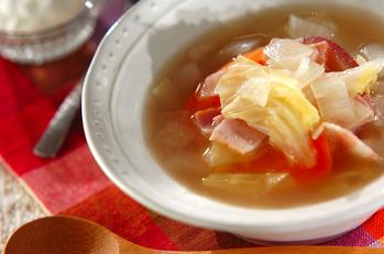 ホエー入りのたっぷり野菜スープ