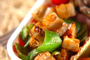 乱切り野菜のオイスター炒め