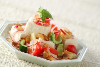 つるりん豆腐サラダ