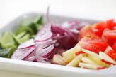 つるりん豆腐サラダの作り方1
