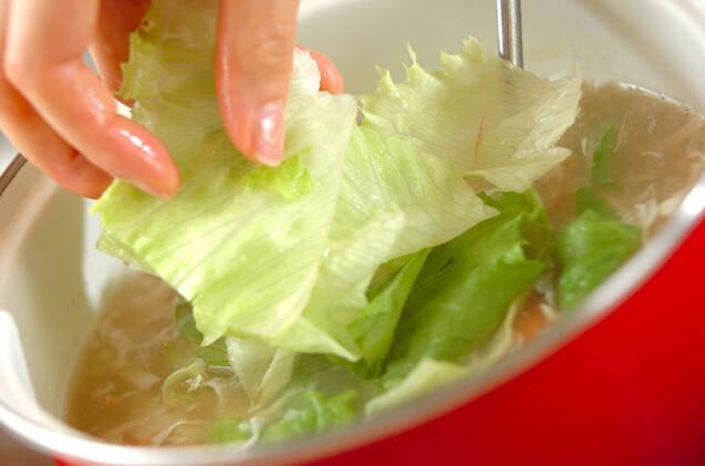 レタスのふわふわスープの作り方の手順6