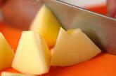 カラメルリンゴのせヨーグルトの下準備1
