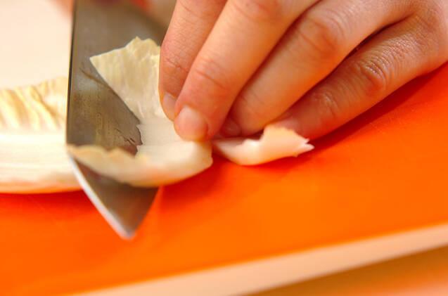 白菜のお好み焼き風の作り方の手順1