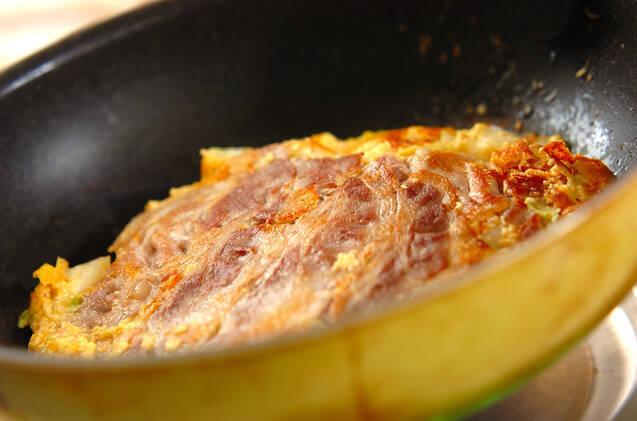 白菜のお好み焼き風の作り方の手順3