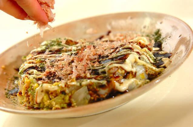 白菜のお好み焼き風の作り方の手順4