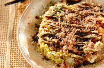 白菜のお好み焼き風
