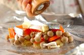 鮭とポテトのフライパンでホイル焼きの作り方1