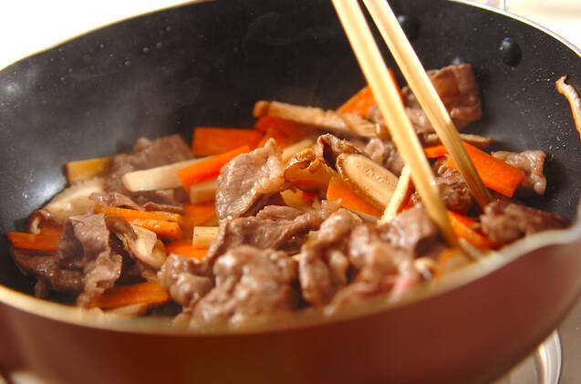 簡単牛肉ビーフンの作り方の手順6