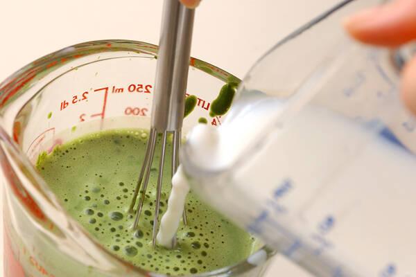 抹茶ミルクぜんざいの作り方の手順3