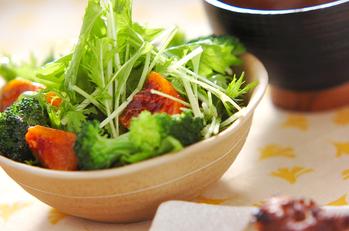 水菜と柿のサラダ