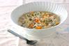 具だくさんの雑炊の作り方の手順
