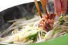 モヤシの炒め物の作り方の手順3