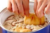 卵茶巾みそ汁の作り方2