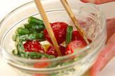 サヤインゲンとプチトマトのサラダの作り方3