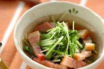 ベーコンと水菜のサッと煮