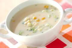 コーンとブロッコリーのスープ