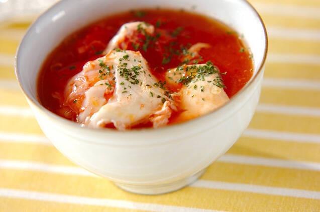 豆腐とたまごのトマトスープ