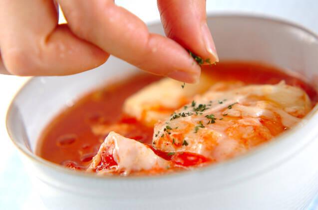 豆腐と卵のトマトスープの作り方の手順3
