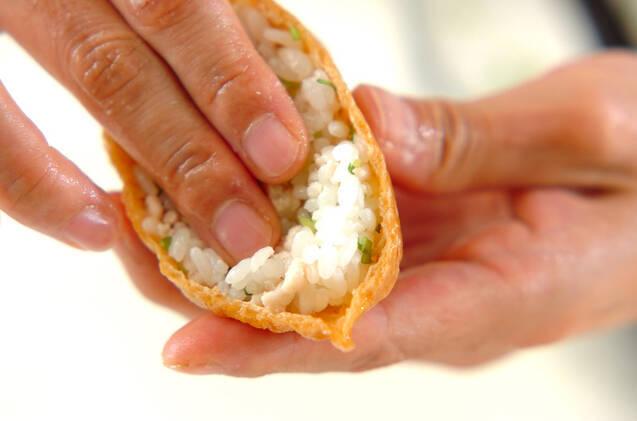 鶏そぼろ入りいなり寿司の作り方の手順4
