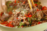 牛肉とゴーヤのマヨ炒めの作り方1
