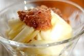 長芋とリンゴの梅肉和え