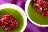 抹茶小豆のデザート