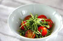 豆苗とトマトの中華和え