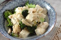 ブロッコリーと豆腐の塩炒め