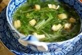 水菜の中華スープ
