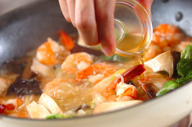 エビとエリンギの塩炒めの作り方の手順10