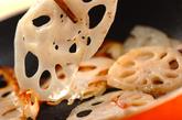 レンコンとベーコンのチーズ焼きの作り方2