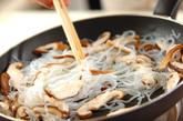 糸コンニャクのナメタケ炒めの作り方1