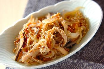 糸コンニャクのナメタケ炒め