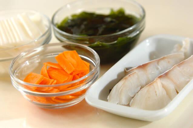 タラのレンジ蒸しの作り方の手順1