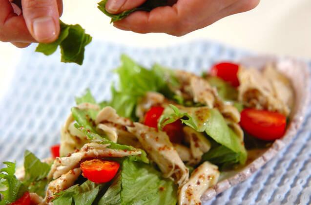 ささ身のサラダの作り方の手順4