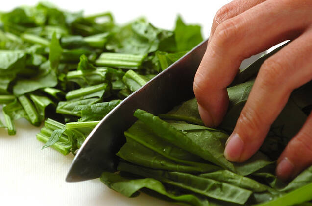 ホウレン草スープの作り方の手順1