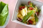 キヌサヤのサラダ