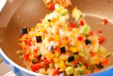 玄米チャーハン・トマトのっけの作り方2