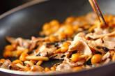 豚肉とナメコの塩昆布炒めの作り方3